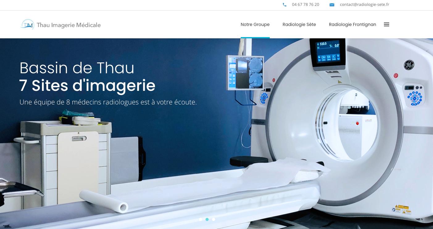 Exemple de site web Imagerie médicale