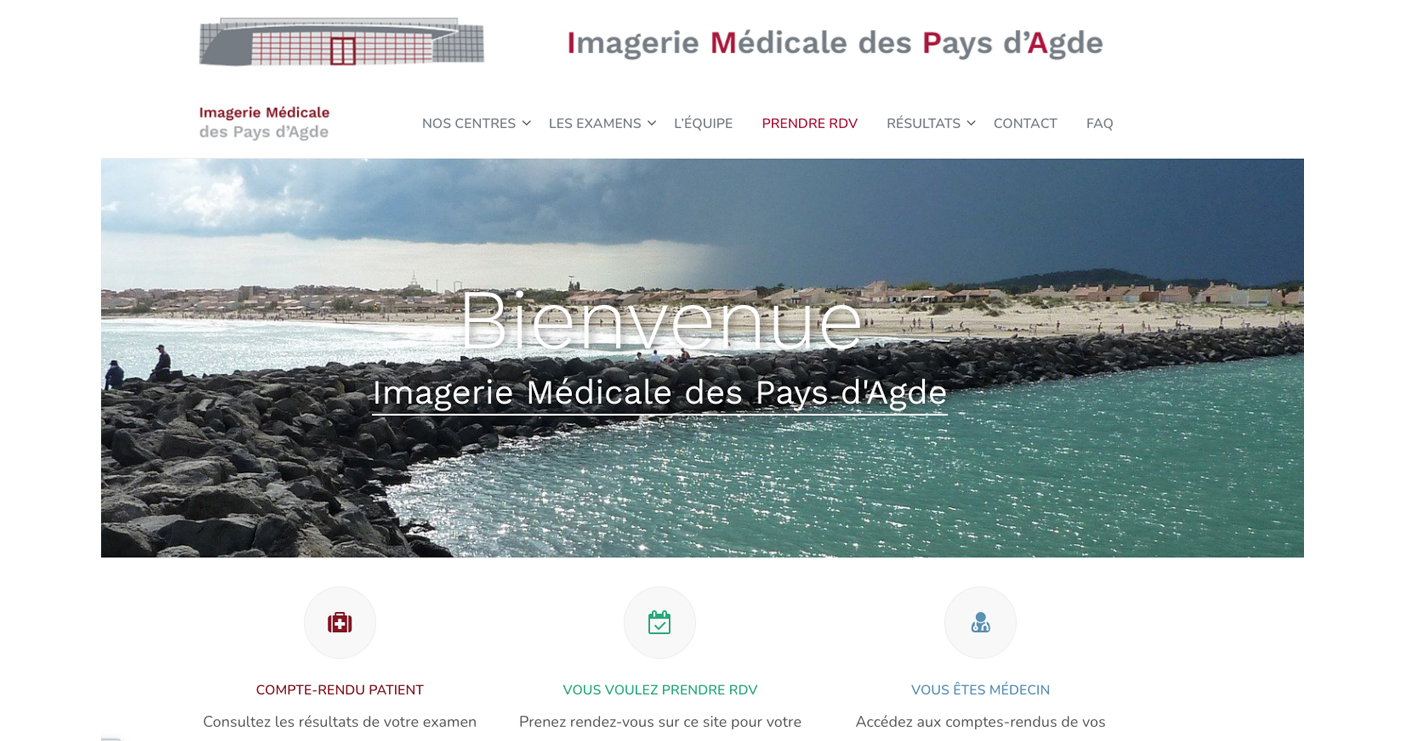 Exemple de site web Radiologue