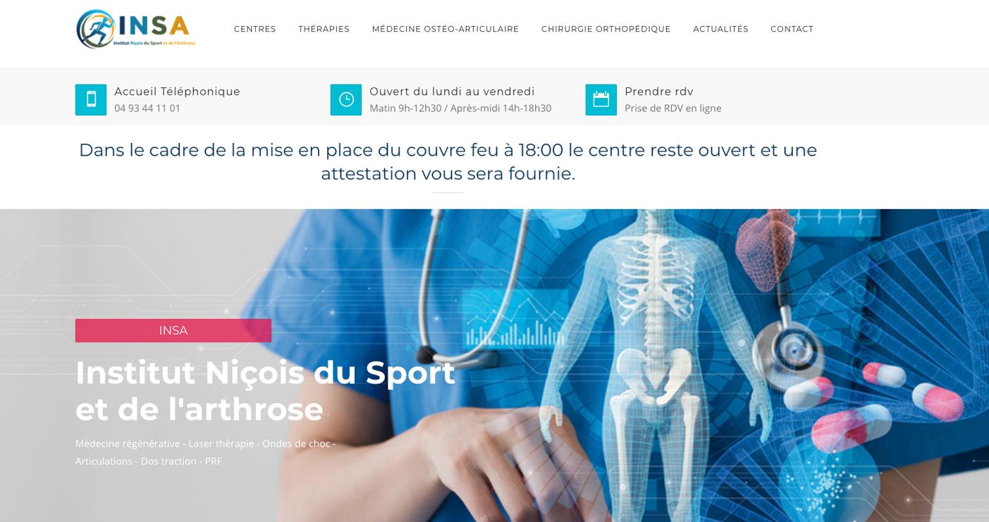 Exemple de site web Centre de kinésithérapie et imagerie médicale